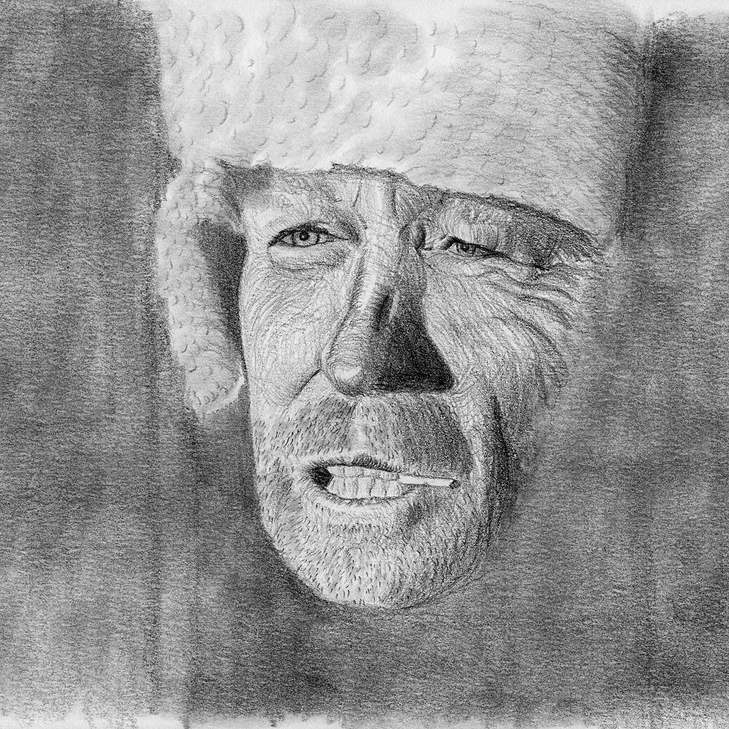 Pencil Portrait of my Father-in-law