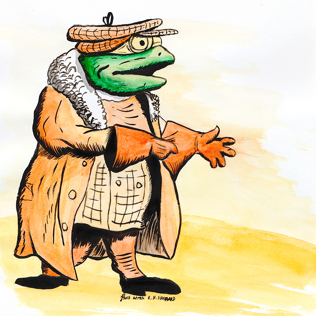 Draw Every Day: E.H. Shepard's Mr Toad study in watercolour.