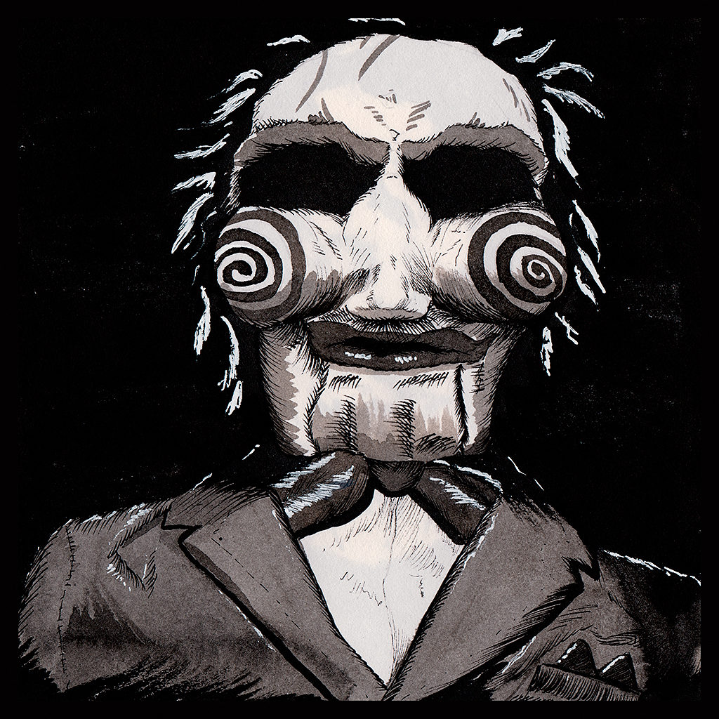 Billy from The Saw in ink