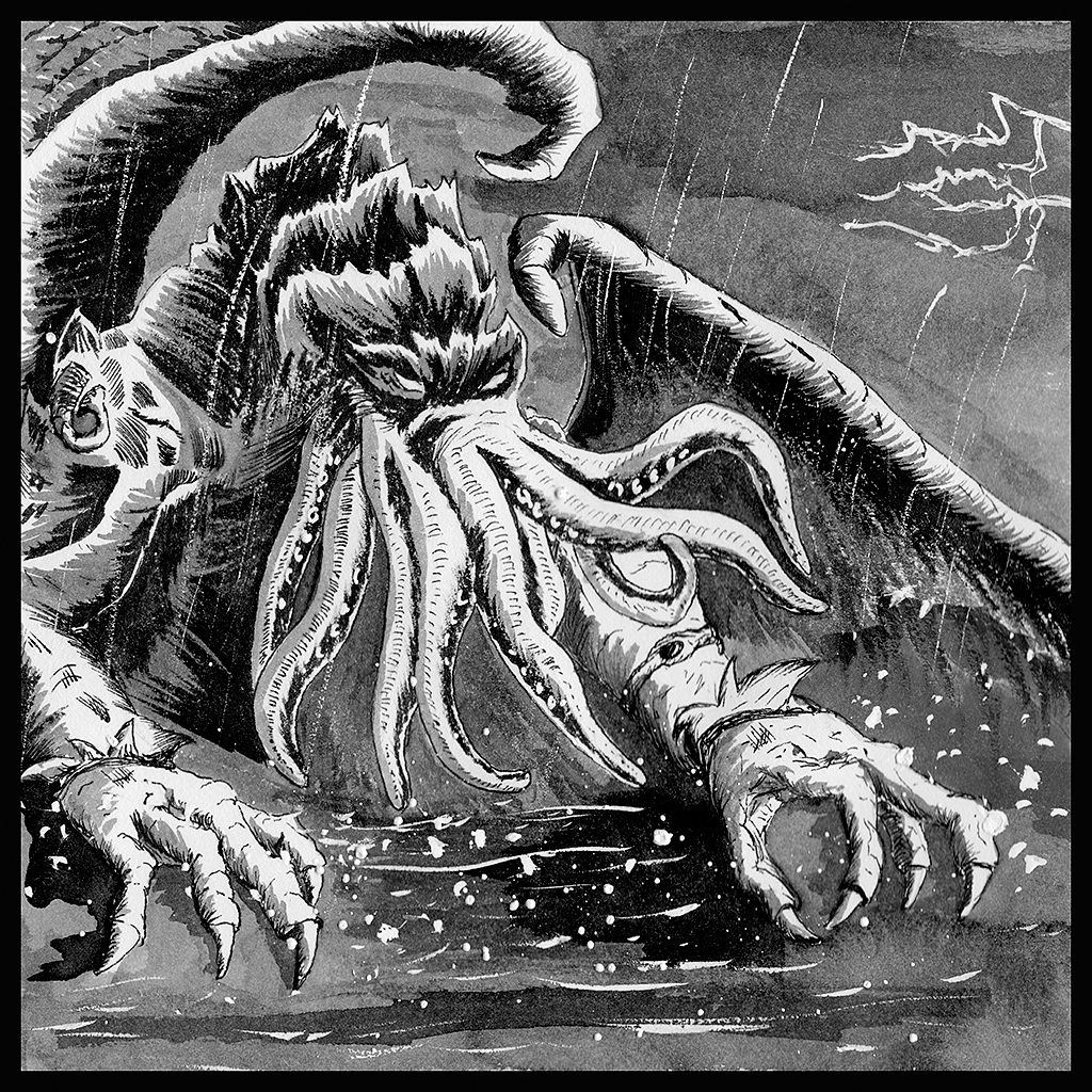 The Great Cthulhu in Ink